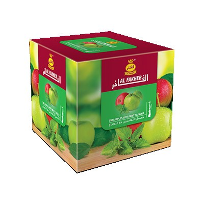 Табак Al Fakher Two Apples with Mint (Двойное яблоко с мятой) 1кг