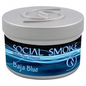 Табак Social Smoke Baja Blue (Черника с Виоградом в Белом Шоколаде) 100гр
