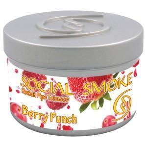 Табак Social Smoke Berry Punch (Ягодный Пунш) 250гр