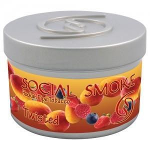 Табак Social Smoke Twisted (Манго Клубника Малина Голубика) 100гр
